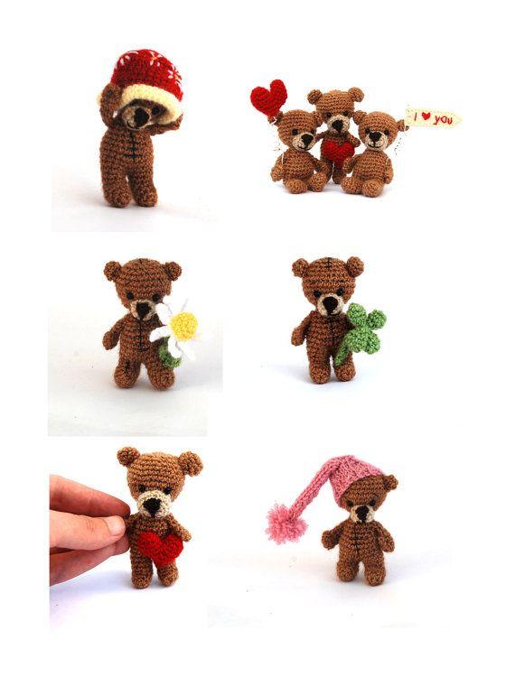personalized teddy bear customized little by tinyworldbycrochAndi