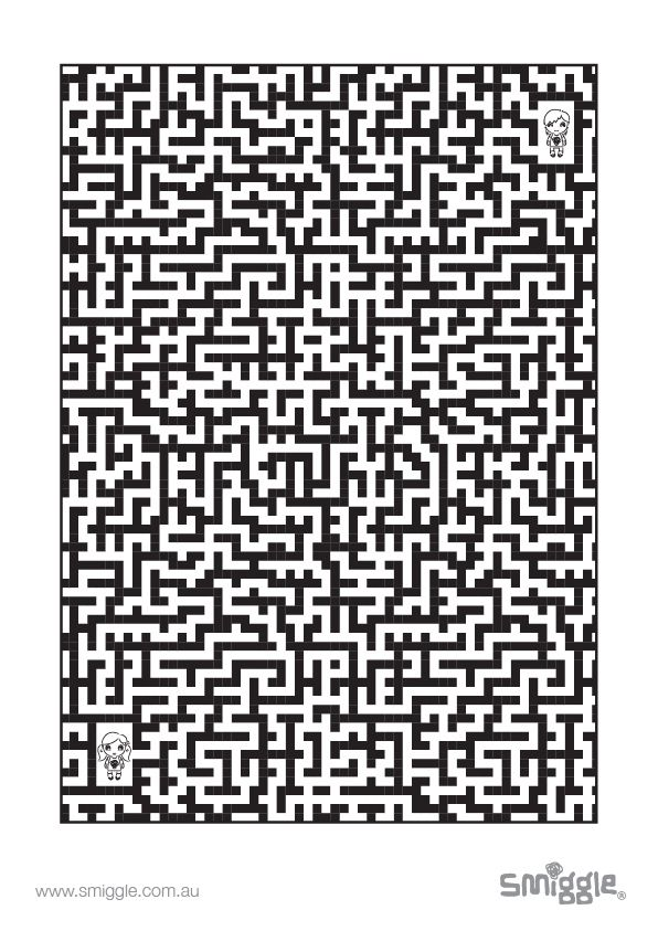 can YOU find your way out of the smiggle maze?