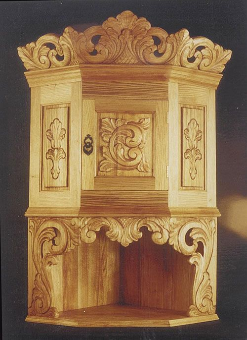 Fantastic hand-carved cabinets and hutches by Norsk Wood Works -- Wall Cabinets and Hutches
