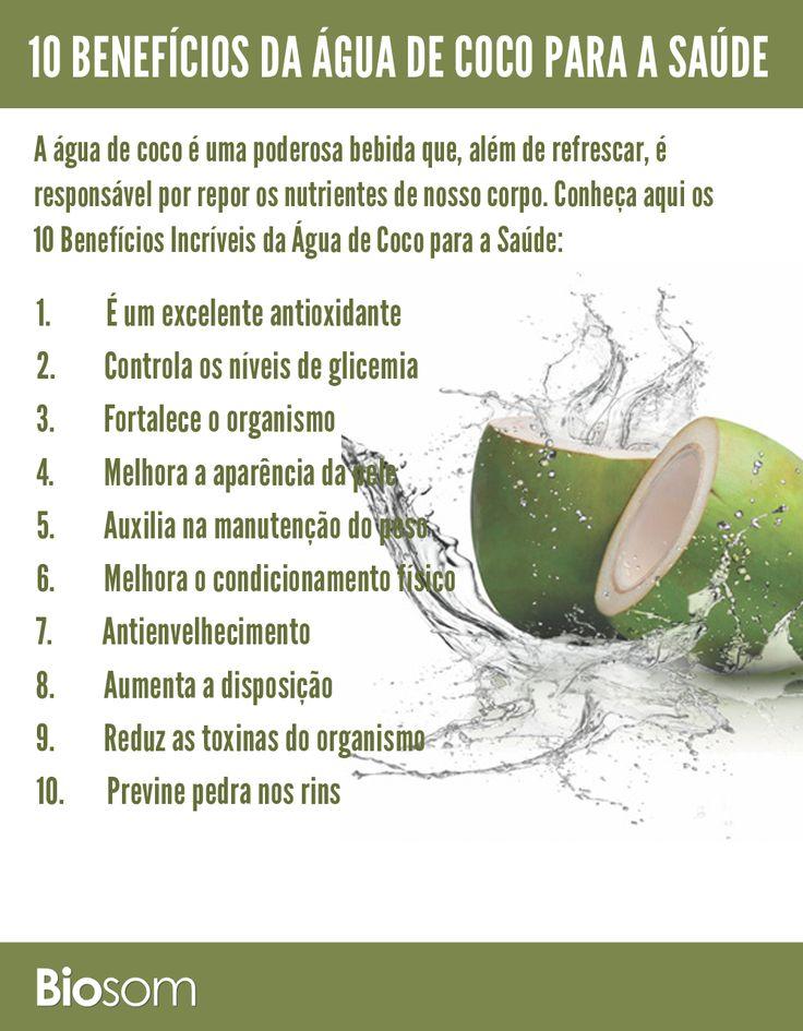 Clique na imagem para ver os detalhes dos 10 Benefícios Incríveis da Água de Coco para a Saúde  #alimento #alimentacao #alimentação #alimentacaosaudavel #alimentaçãosaudável #saúde #bemestar #agua #água #coco #aguadecoco #águadecoco  A água de coco é uma poderosa bebida que, além de refrescar, é responsável por repor os nutrientes de nosso corpo. Conheça aqui os 10 Benefícios Incríveis da Água de Coco para a Saúde: