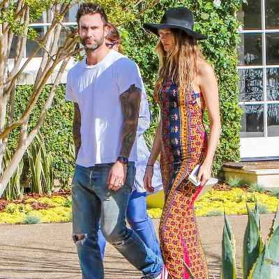 Hot: Behati Prinsloo Shows Off Her Growing Bump in Chic Boho Style