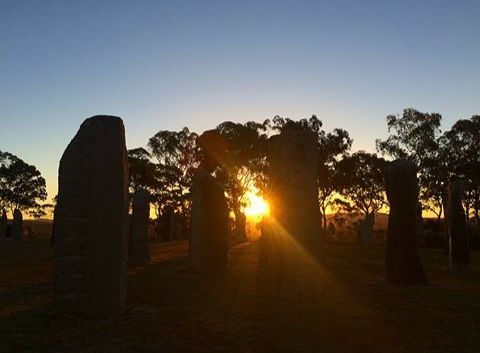 The beautiful Standing Stones and the setting sun.  Photo by @bella_obrien