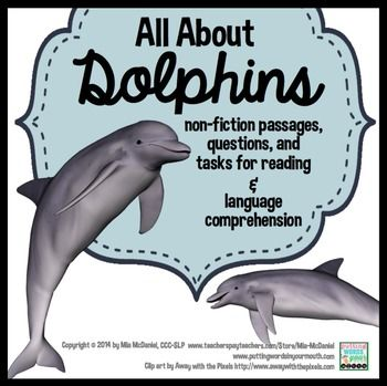 All About Dolphins {a non-fiction packet for reading & lan