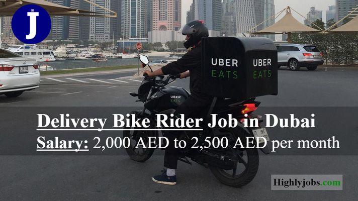 Delivery Bike Rider Job In Dubai Bike Rider Dubai Job