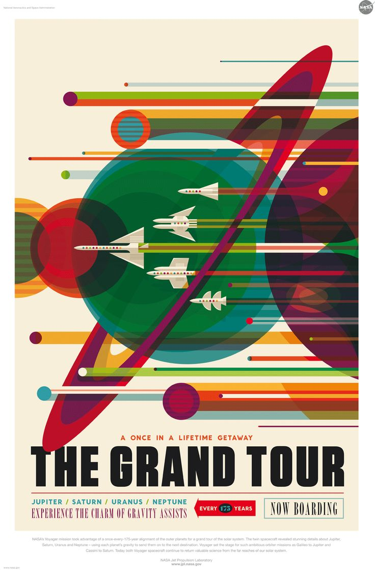 Travel to Jupiter? For example, Seattle-based creatives illustrated posters for NASA