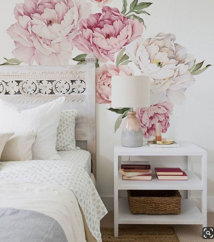 idea by giovanna on rose cottage floral cottages on wall stickers for bedroom id=58758