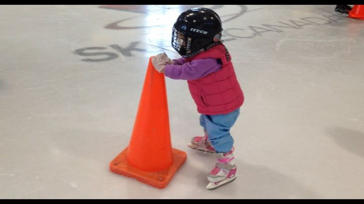 2 year old learns to skate on Balance Blades