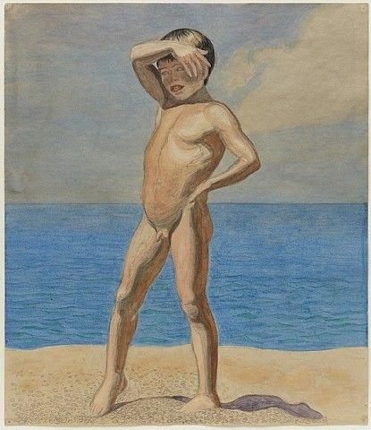 Jens Ferdinand Willumsen - Boy on a beach 1910