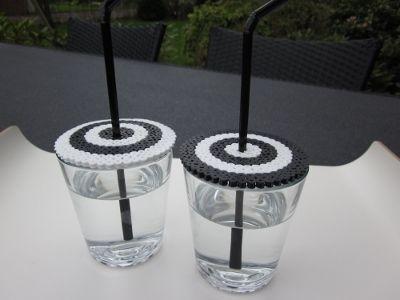 Hama perler - Insektnet til glas by Hyggestunder