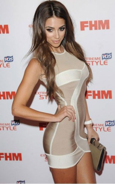 Herve Leger Sexy Round Neck Two-tone Nude Formal Dresses on Chiq  $0.00 http://www.chiq.com/herve-leger-dress/herve-leger-sexy-round-neck-two-tone-nude-formal-dresses