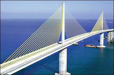 St. Petersburg-Bradenton Florida. I was nervous when I drove over this bridge. It's about more than golfing,  boating,  and beaches;  it's about a lifestyle  KW  http://pamelakemper.com