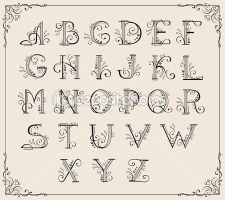 Caligrafia alfabeto — Ilustração de Stock #5743583