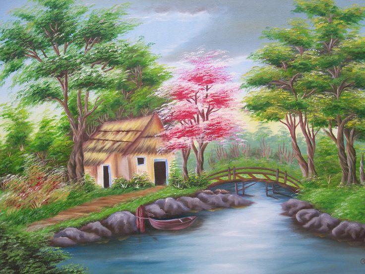 17 best images about paisajes rurales on pinterest ems - Pinturas para pintar tela ...