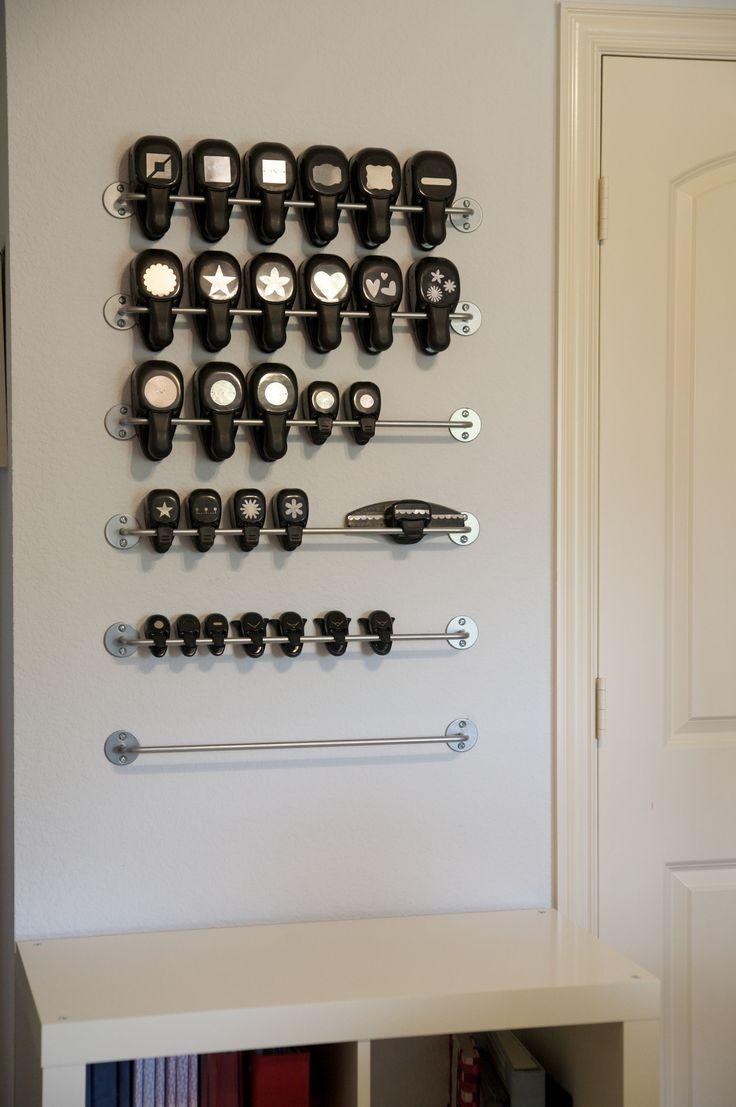 Punch Storage On Kitchen Rails