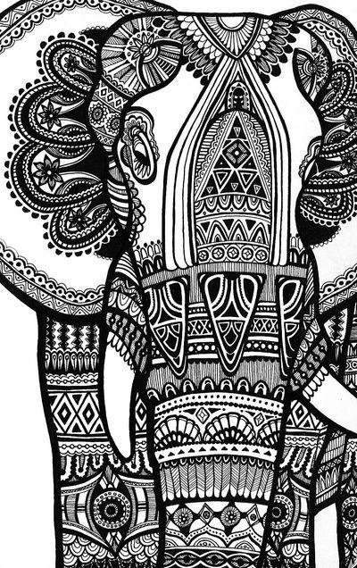 Elephant Art Print by iDEASpace | Society6