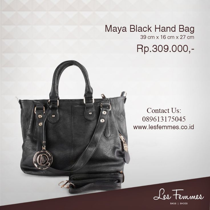 Maya Black Hand Bag 309,000 IDR #Fashion #Woman #bag shop now on http://www.lesfemmes.co.id/hand-bags/maya-black-hand-bag