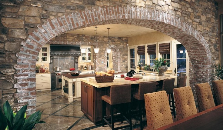 Mix of brick and stone dream home pinterest for Mixing brick and stone