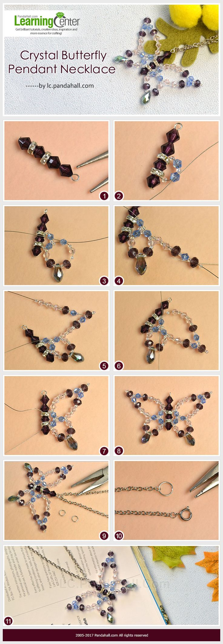 16 Best Beads More Images On Pinterest Bead Animals Copper Electrical Wiring Stranded Wireedit Crystal Butterfly Pendant Necklace The Is Composed Of Different Glass Making Way