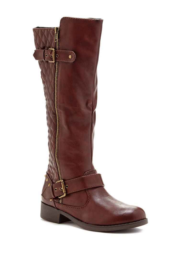 Tinker Tall Quilted Moto Boot