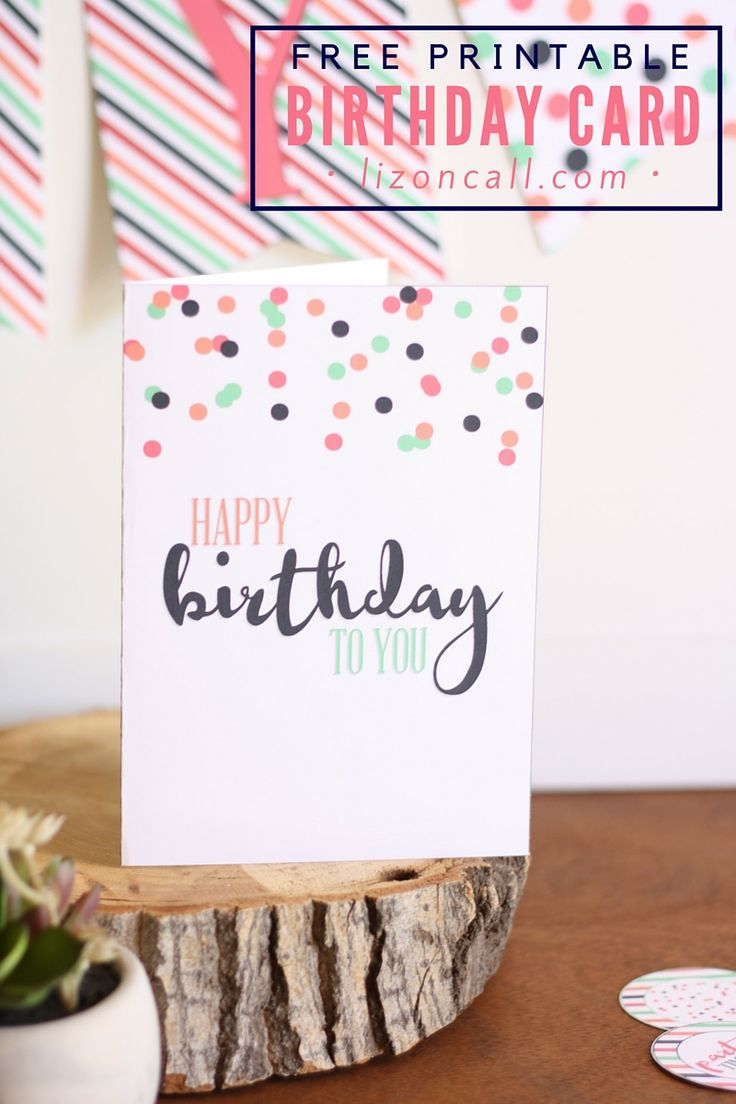 Wish your friend or family member a happy birthday with this free printable birthday card.                                                                                                                                                                                 More