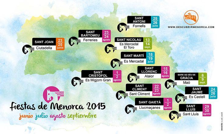 Calendario de Fiestas de Menorca 2015.