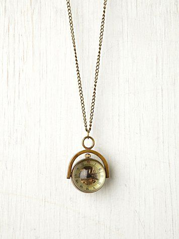 Sapphire Globe Necklace at Free People Clothing Boutique
