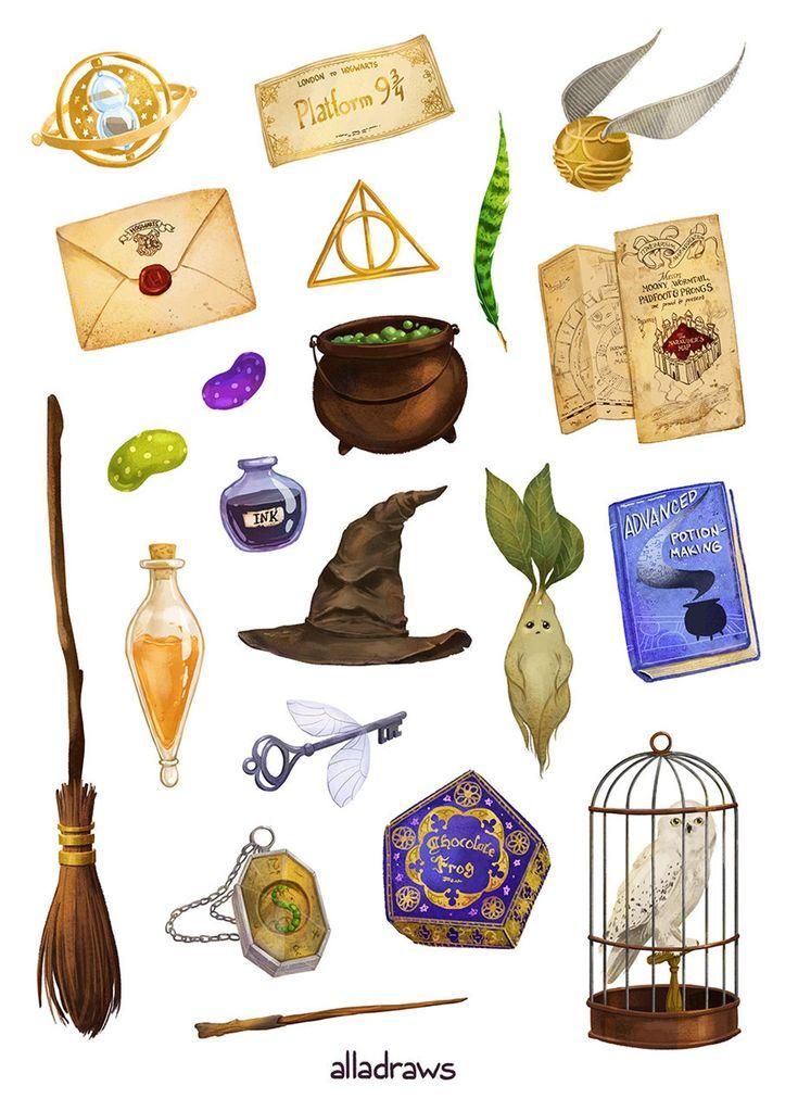 Harry Sticker set А5 in 2020 | Harry potter stickers ...