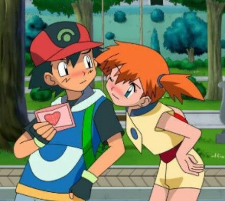 Ash Ketchum Kissing Misty