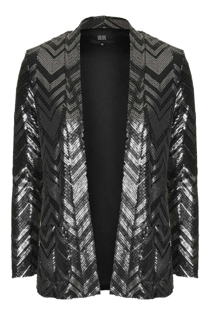 Photo 1 of **Jagger Silver And Black Zig Zag Jacket by Goldie