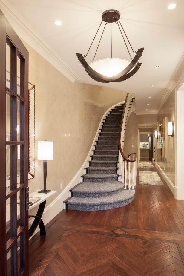 foyer remodel herringbone with border red oak