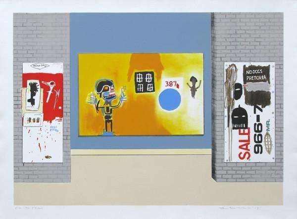 Sam Nhlengethwa, Tribute to Jean-Michel Basquiat, 2013 -
