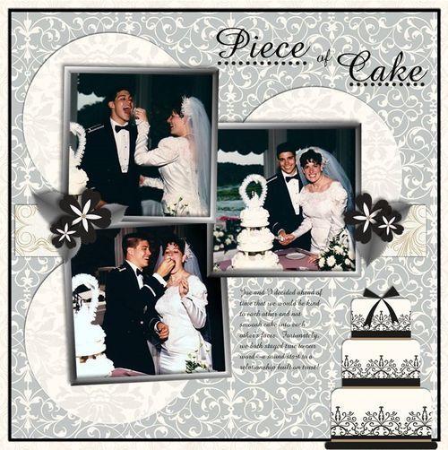 Piece of Cake Divine Wedding Day Digital Scrapbooking Layout