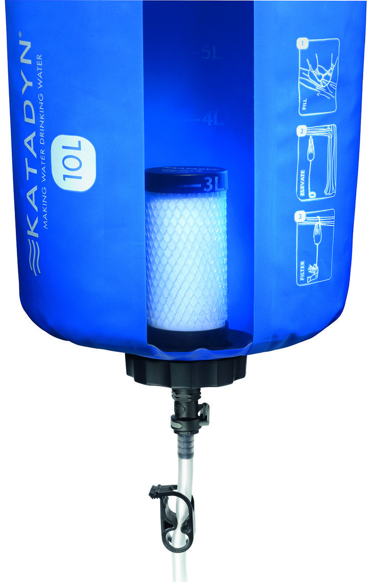 DETAIL SHOT OF OUR KATADYN BASE CAMP PRO 10L WATER FILTER