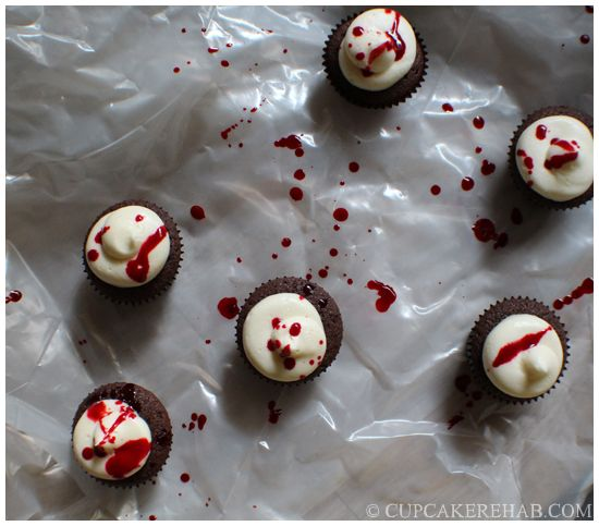 Dexter Morgan's blood spatter cupcakes.