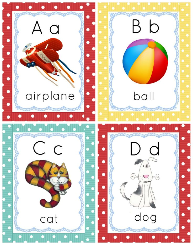Gorgeous Colourful ABC Cards are great for activities and ...