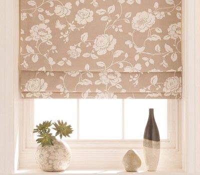 This delicate neutral coloured floral blind will look fabulous in a feminine setting. #interiordesign #blinds #florals
