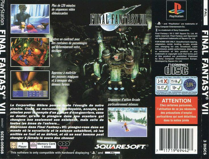 Final Fantasy VII PSX cover