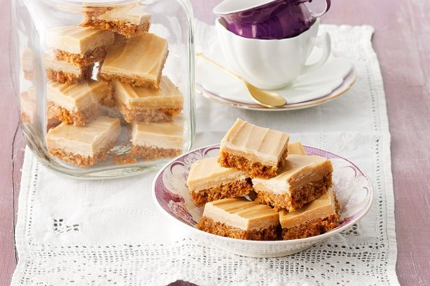 Give the oven a rest and let the fridge do its best -a no-bake slice is perfect with a cuppa!