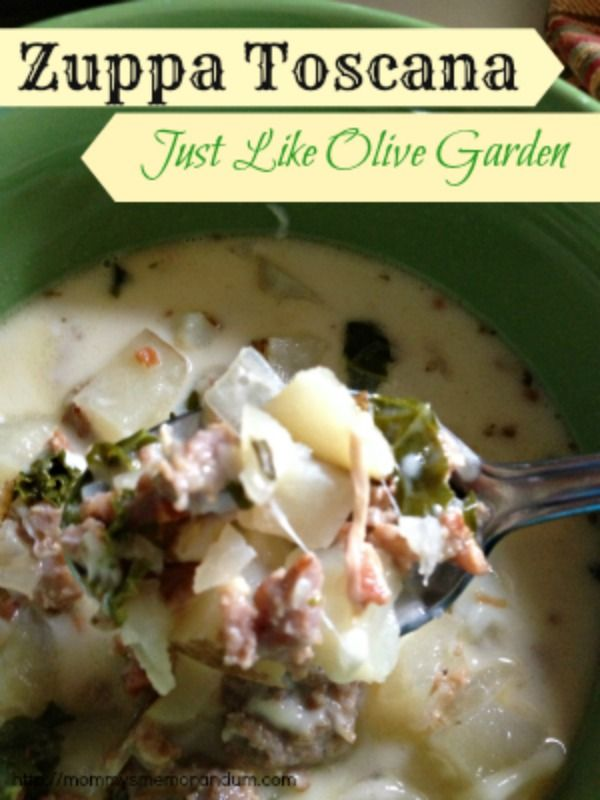 Zuppa Toscana Recipe Just Like Olive Garden Gardens Olive Garden Zuppa Toscana And Soups