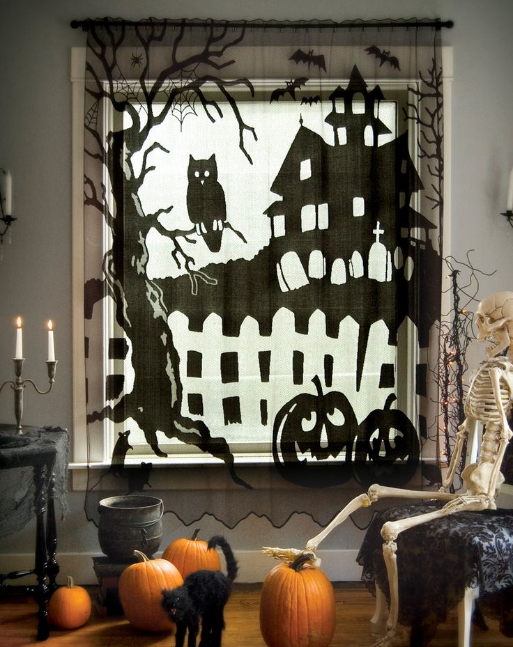 Halloween Themed Decorating Ideas Part - 43: Halloween, All Curtains;Patio U0026 Slider Door Curtains Heritage Lace -  Artifacteria - Decorating With Lace Outlet