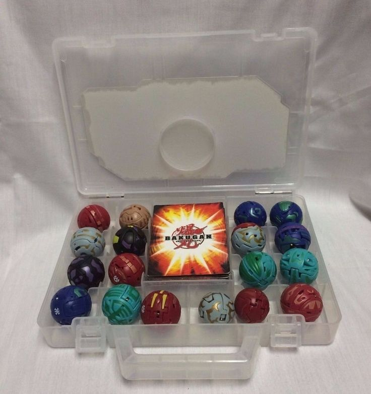 Bakugan Battle Brawlers LOT 18 Figures 11 Cards Clear Case Magnetic Collection #Bakugan