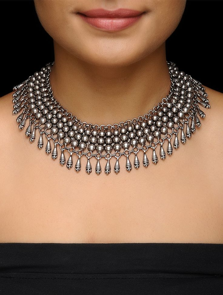 Buy Silver Classic Necklace SALE shop child products Enchanting Tales Up to 20% off jewelry with and floral designs Online at Jaypore.com