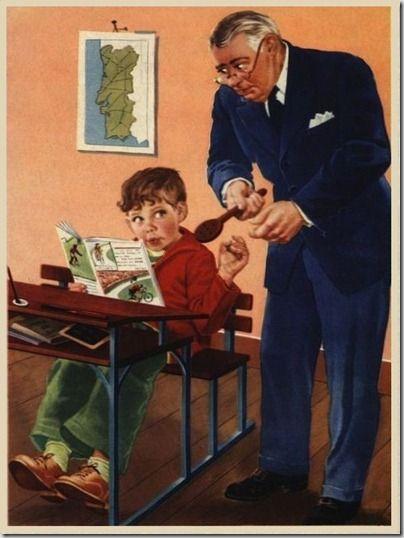 """""""Cena de Escola"""" de 1960, o uso da palmatória"""