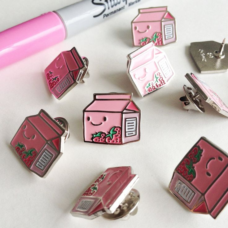 Aww, what an adorable Strawberry Milk pin; providing healthy bones and teeth in the cutest way possible