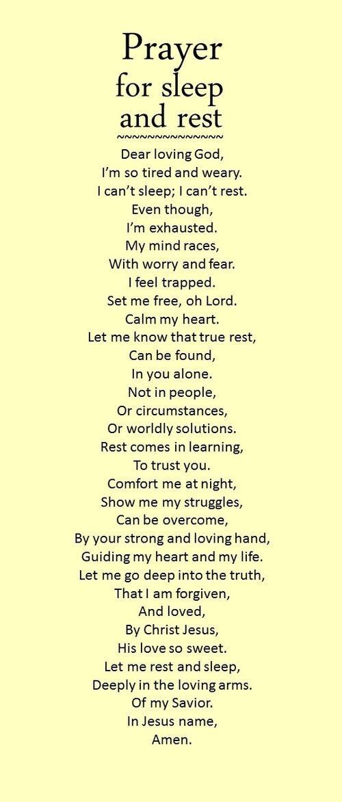 This prayer will help you to sleep