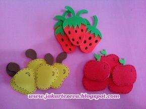 Jak Artes E.V.A: Apliques Frutas em E.V.A, Imãs de Geladeira