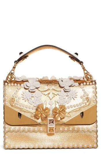 5e6590d602d Handbags & Wallets for Women. Fendi Kan I Metallic Monster Shoulder Bag