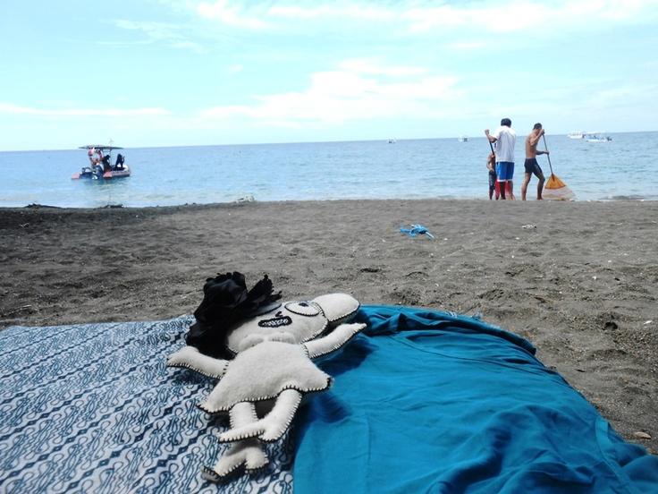 The Sunbathing time (plus cleaning Pemuteran beach) - Bali, Indonesia