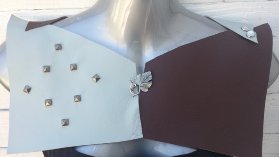 Stylish Leather Hand Sewn and Stud Chest Plates by PoeticSolace, £35.00