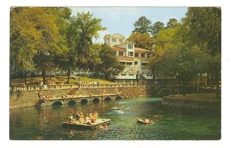 Radium Springs before the old building burned down